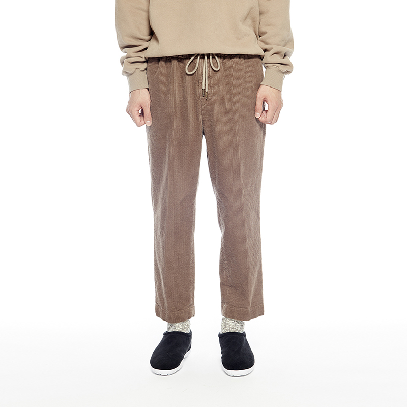 COMFY CORDUROY TROUSERS (COCOA BROWN)