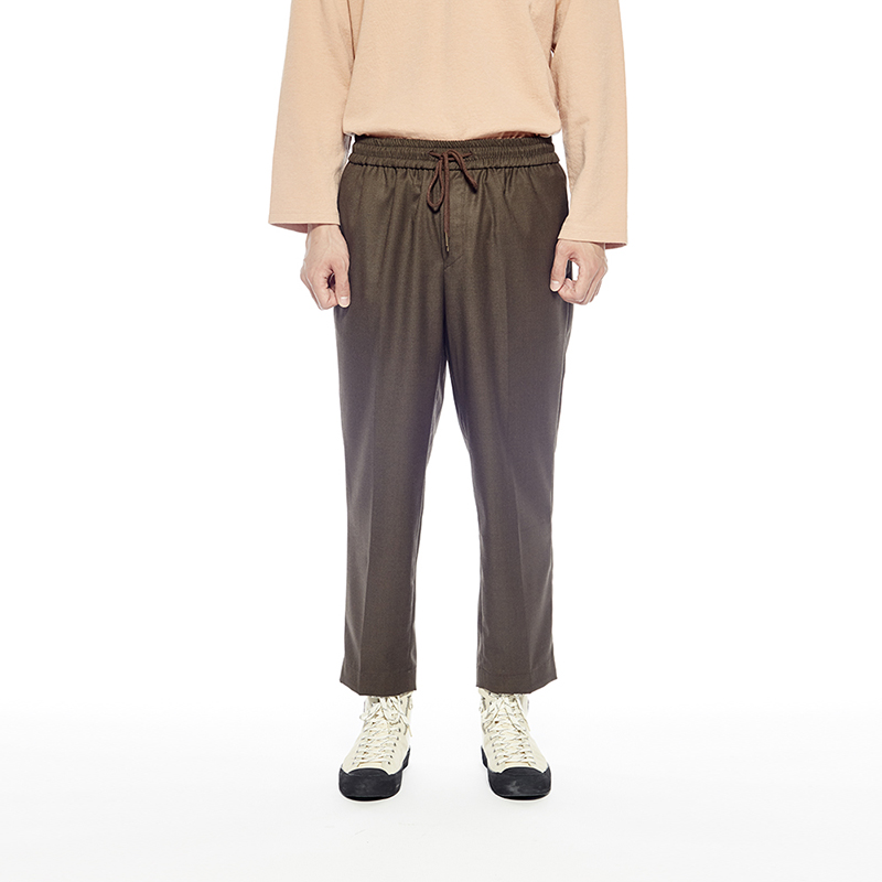 COMFY WOOL-TR TROUSERS (BROWN STONE)