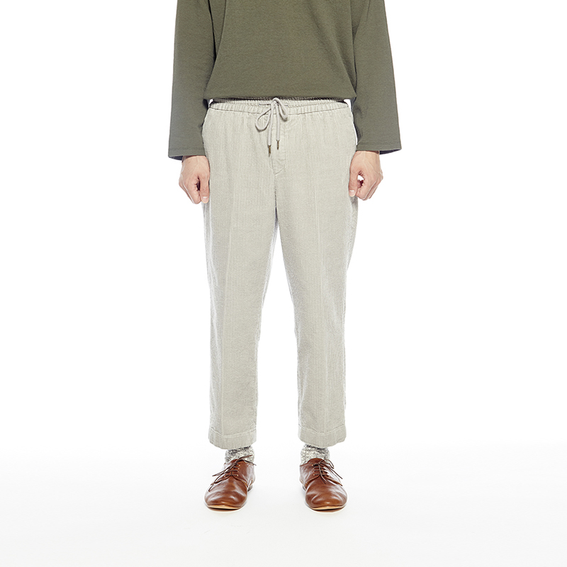 COMFY CORDUROY TROUSERS (QUIET GRAY)