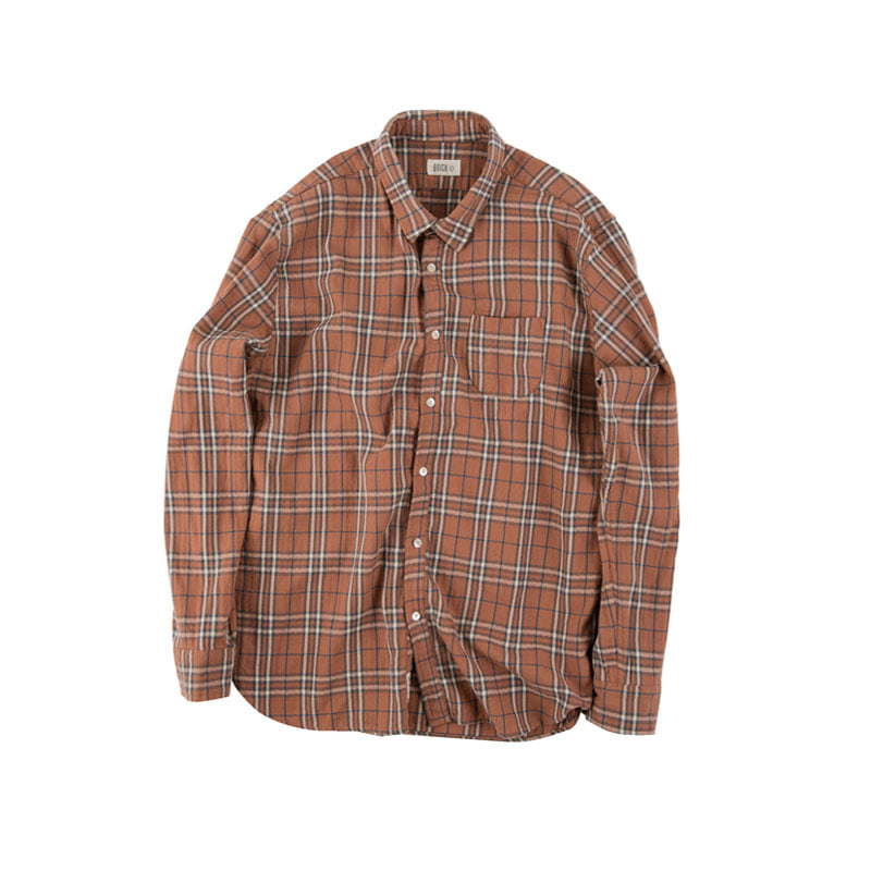 TARTAN CHECK SHIRTS-in the closet (ORANGE)