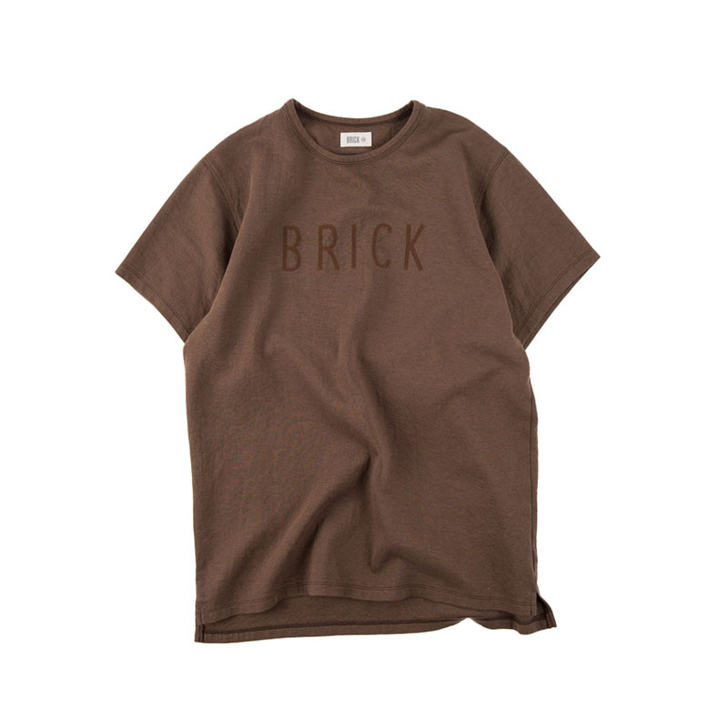 CHAIN EMBROIDERY LOGO T-SHIRTS (BROWN)